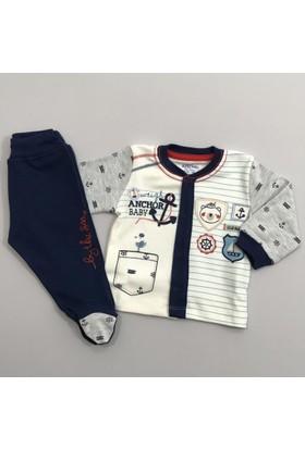 Aziz Bebe Erkek Bebek 2'li Takım 0 - 6 Aylık 2707