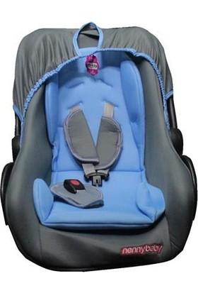 Nenny Baby Ana Kucağı Bebek Puset Taşıma Koltuğu Mavi Gri