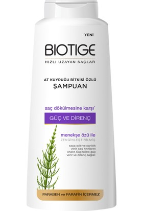 Biotige Hızlı Uzama Etkili Şampuan 600 ml - Saç Dökülmesine Karşı - Güç ve Direnç