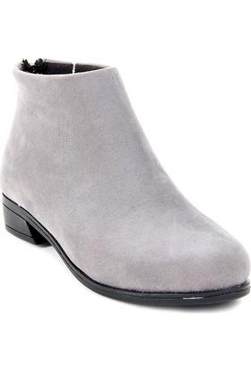 Miraç Ayakkabı Fermuarlı Süet Bayan Bot
