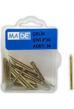 Made Çelik Çivi 2X30 ( 1 Kutu:36 Adet)