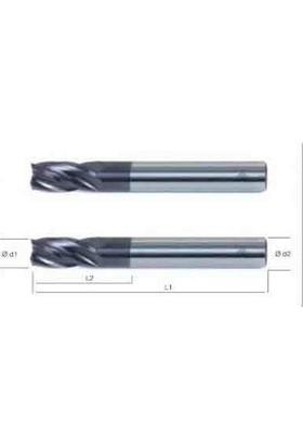 Mte Q10 Mm 6528 Komple Sert Metal Freze 4 Agızlı (Makine Takım)