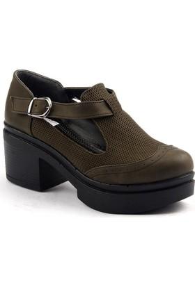 Ayakland 502 Günlük Bayan Desenli Ayakkabı