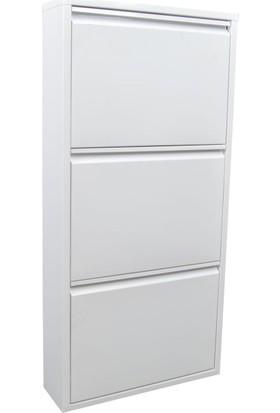 Evdemo Ae3043 Ceha 3 Lü Metal Ayakkabılık Beyaz