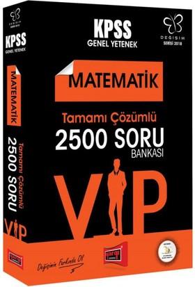 Yargı Yayınları 2018 Kpss Değişim Serisi Vıp Matematik Tamamı Çözümlü 2500 Soru Bankası
