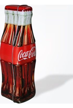 Coca-Cola Metal Şişe Şeklinde Kumbara