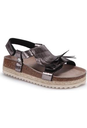 Superfit 00122-01 Pk Siyah Kız Çocuk Deri Sandalet