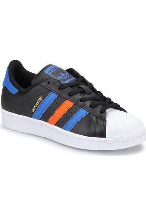 Adidas Superstar J Siyah Mavi Unisex Çocuk Sneaker Ayakkabı