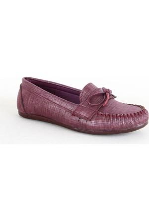 Demir 311 Bayan Günlük Babet Ayakkabı Bordo