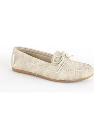Demir 311 Bayan Günlük Babet Ayakkabı Krem