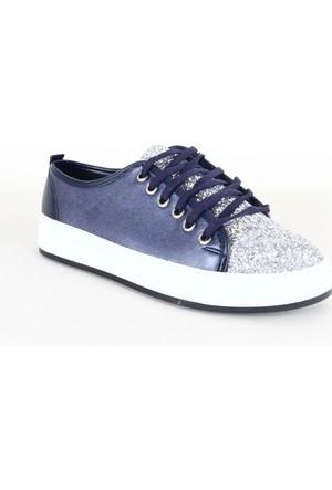 Badis 111 Bayan Simli Günlük Ayakkabı Lacivert
