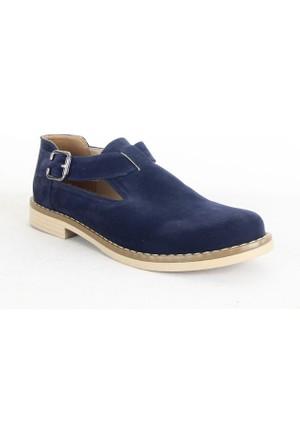 Belpino 1711 Bayan Kemerli Günlük Ayakkabı Lacivert