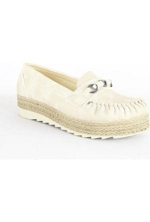 Demir 338 Hasır Taban Bayan Ayakkabı Vizon