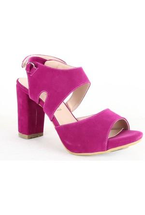 Demirtaş 3406 Süet Bayan Topuklu Ayakkabı Fuşya