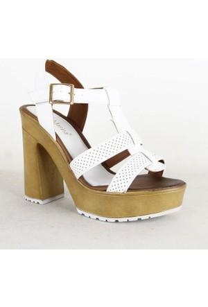 Santa Marina 7000 Bayan Topuklu Ayakkabı Beyaz