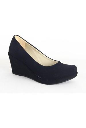 Treks Tecer 142 Süet Dolgu Taban Bayan Ayakkabı Siyah