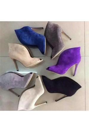 AyakkabıDevi Monica Rengarenk Stiletto Ayakkabı