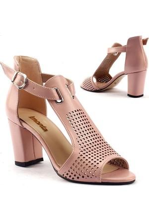 Monta Günlük Sandalet Bayan Cilt Ayakkabı