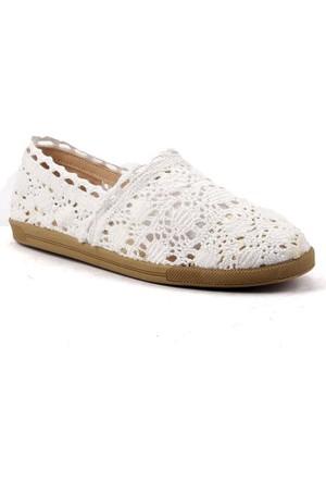 Şengül Günlük Dantelli Bayan Babet Ayakkabı