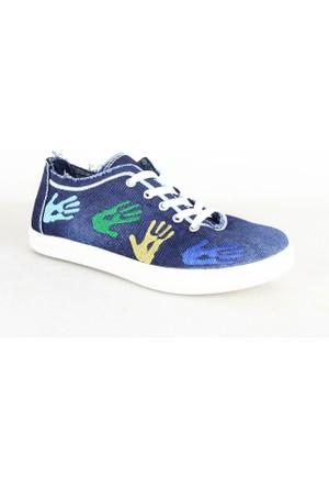 Bumerix 528 Bayan Kot Günlük Ayakkabı Mavi