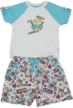 For My Baby Aviasa Şortlu Erkek Bebek Takımı