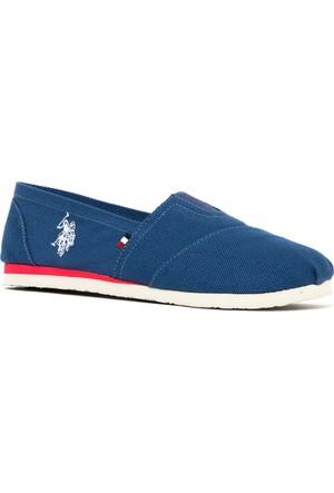U.S. Polo Assn. Kadın Y7Huff Ayakkabı Mavi