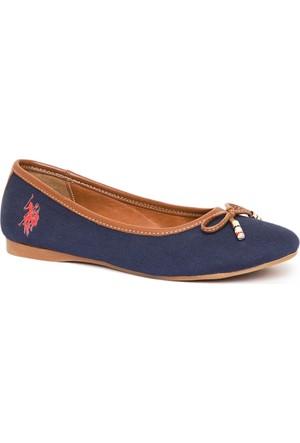 U.S. Polo Assn. Kadın Y7Leslie Ayakkabı Lacivert
