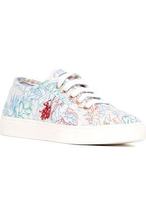 U.S. Polo Assn. Kız Çocuk Y7Mable Ayakkabı Beyaz