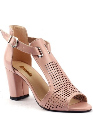 Monta Günlük 7,5 Cm Topuklu Kadın Cilt Ayakkabı