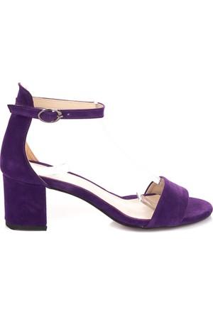 Pembe Potin Mor Nubuk Ayakkabı
