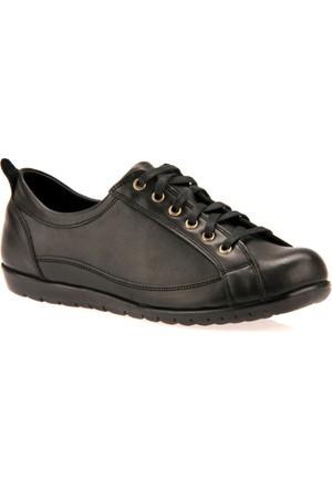 Uniquer Kadın Hakiki Deri Ayakkabı 7333U 3451 Siyah