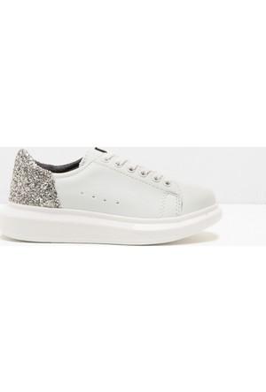 Koton Kız Çocuk Sim Detaylı Ayakkabı Beyaz