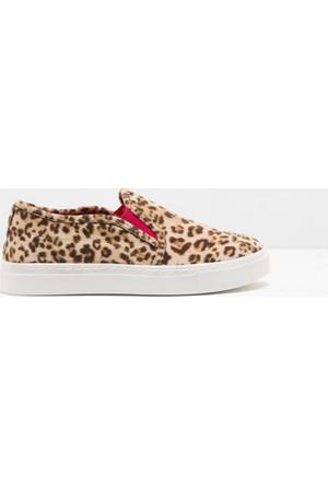 Koton Kız Çocuk Bağcıksız Ayakkabı Kahverengi