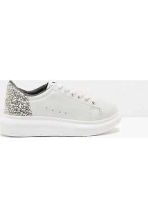 Koton Kız Çocuk Bağcıklı Ayakkabı Beyaz