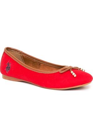U.S. Polo Assn. Kadın Y7Leslie Ayakkabı Kırmızı