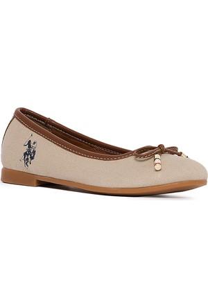 U.S. Polo Assn. Kız Çocuk Y7Leslie Ayakkabı Bej