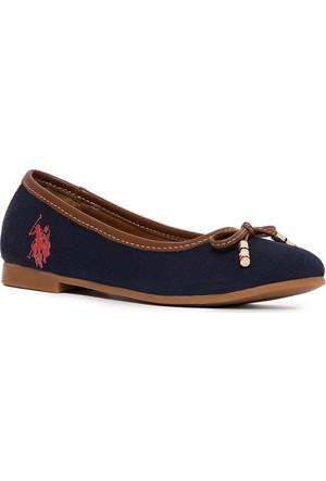 U.S. Polo Assn. Kız Çocuk Y7Leslie Ayakkabı Lacivert
