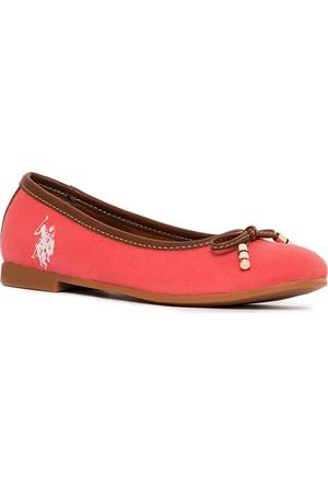 U.S. Polo Assn. Kız Çocuk Y7Leslie Ayakkabı Pembe