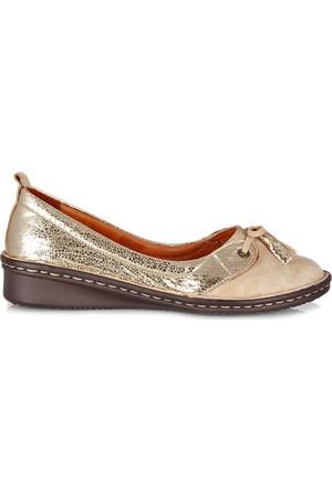 Dr. Pepper Konfor Bayan Ayakkabı Modeli Altın Süet