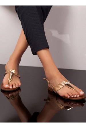 Sandalet - Altın - Ayakkabı Havuzu