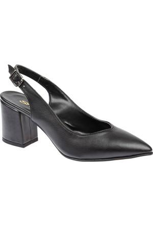 Shalin Ökçeli Sivri Burun Kadın Ayakkabı Bşk 2026 Siyah