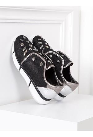 İlvi Violetta 0302 Spor Ayakkabı Siyah Simli