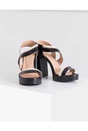 İlvi Herry Iv-13 Sandalet Siyah Bej