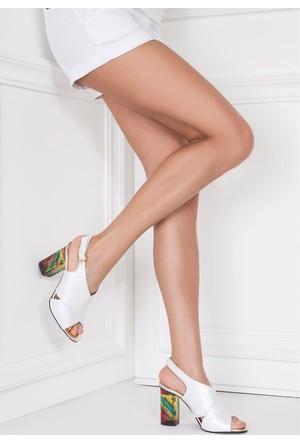 İlvi Riminira 093 Sandalet Beyaz Sedef