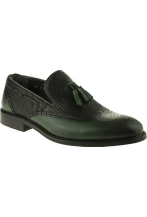 Fosco 7611 Neolit Püsküllü Klasik Yeşil Erkek Ayakkabı