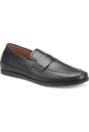 Flogart 3045 M 1366 Siyah Erkek Deri Ayakkabı