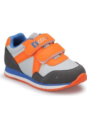 İ Cool Keremino Gri Turuncu Erkek Çocuk Ayakkabı