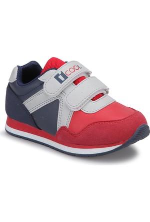 İ Cool Keremino Kırmızı Gri Erkek Çocuk Ayakkabı