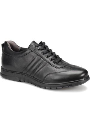 Kinetix Berta Siyah Erkek Deri Ayakkabı