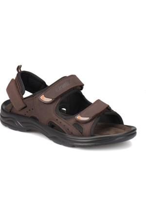 Kinetix Parga Kahverengi Erkek Deri Sandalet